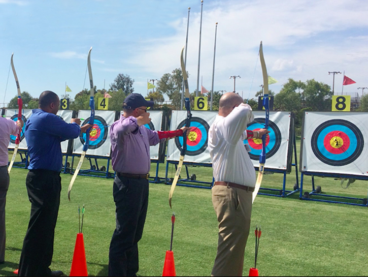 Archery Teambuilding at the Chula Vista Elite Athlete Training Center