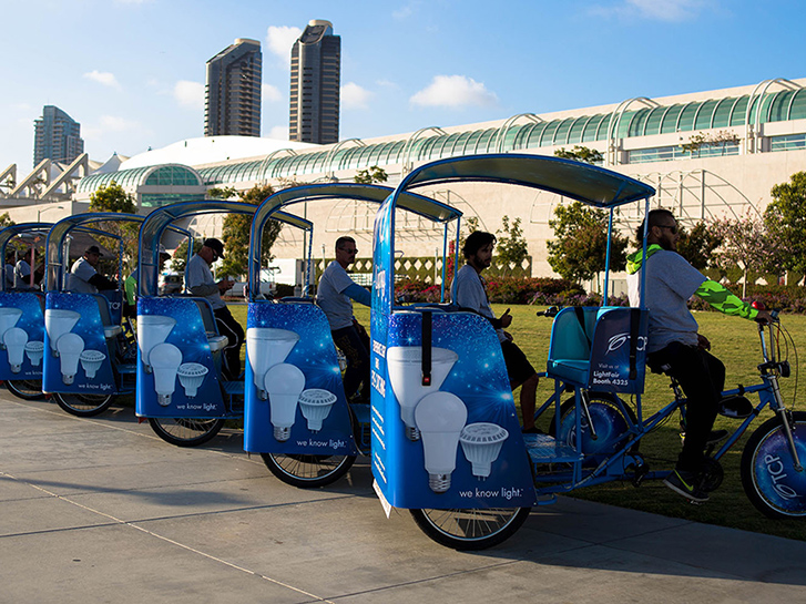 VIP Outdoor Media Pedicabs