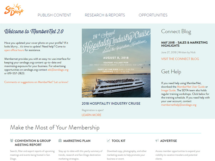 MemberNet Home Page