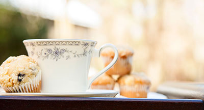 Tea & Muffins at Bed & Breakfast
