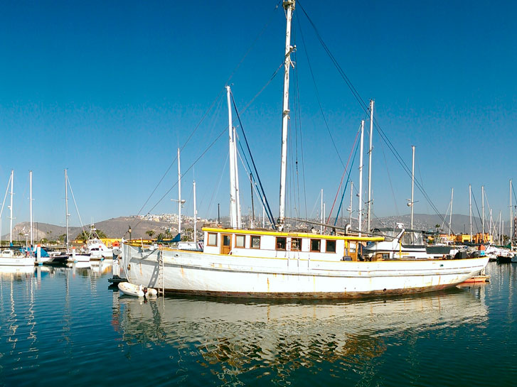 Boat in Ensenada Harbor