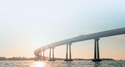 Coronado Bay Bridge over San Diego Bay