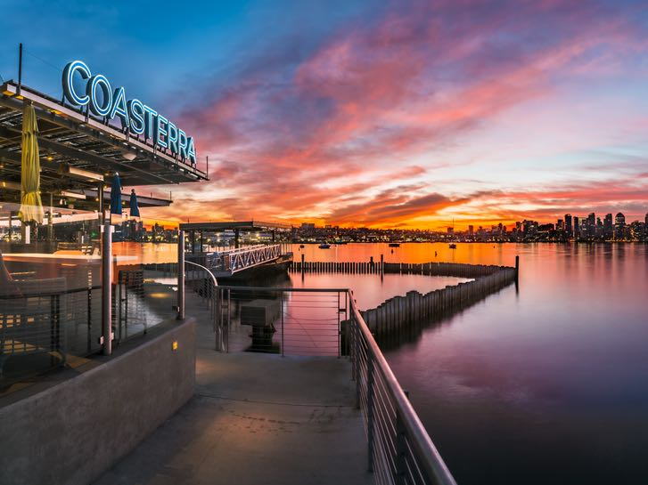 Coasterra Restaurant and View of Downtown San Diego Skyline
