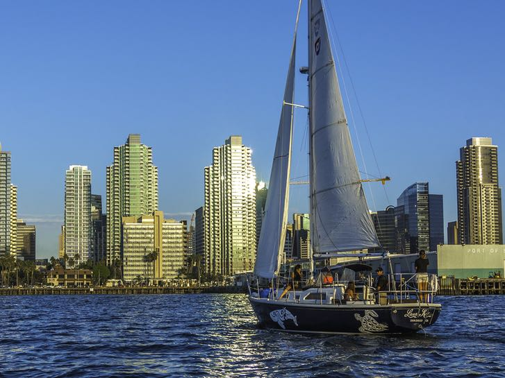 Sailboat from San Diego Sailing Tours