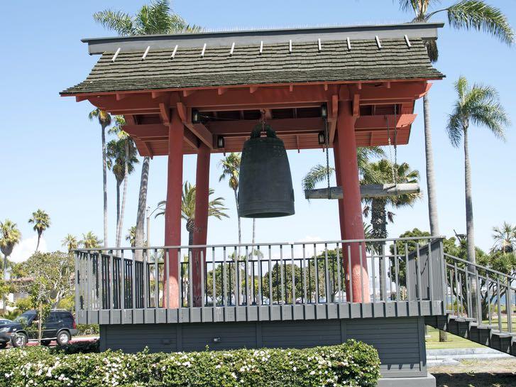 Yokohama Friendship Bell on Shelter Island in San Diego