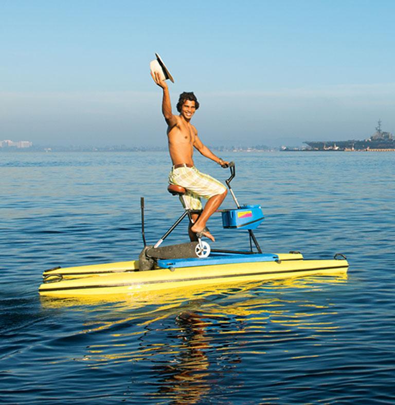 Paddleboating in San Diego CA Bay