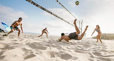 beach volleyball in San Diego
