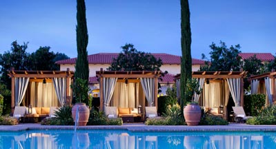 Poolside Cabanas Rancho Bernardo Inn in San Diego County