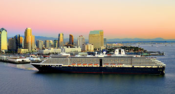 Cruise ship  in San Diego CA