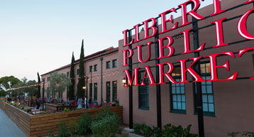 Liberty Public Market Sign in San Diego CA