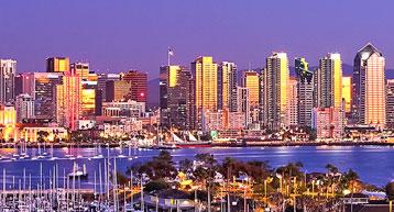 San Diego CA skyline