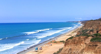 San Onofre Beach San Diego County in CA