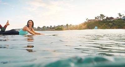 Surfer Girl in San Diego