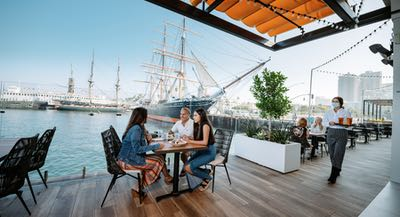 Diners at Portside Pier in San Diego