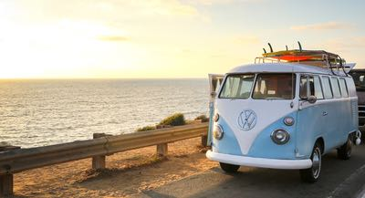 VW Bus by the Ocean - Best Road Trips throughout San Diego, California