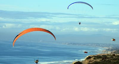 Hang Gliding over Torrey Pines in San Diego CA