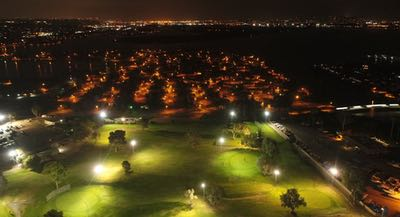 Night Golf at Mission Bay Golf Course in San Diego