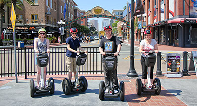 Segway tour in the Gaslamp District of San Diego CA