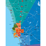 San Diego Distance Map