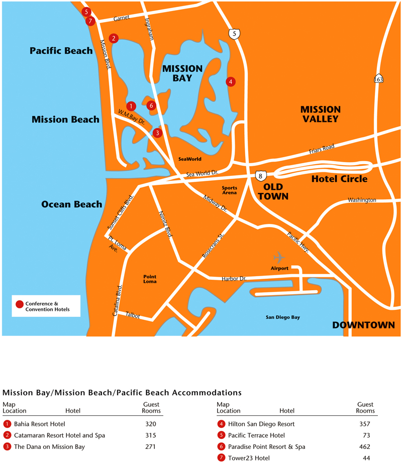 San Diego Map Hotels.Promotional Materials Guides Maps The Official Travel Resource